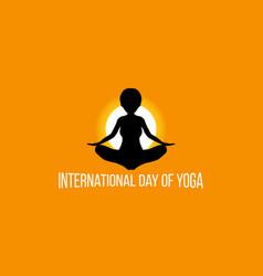 Yoga day vector