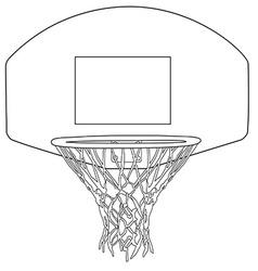 Basketball hoop vector image