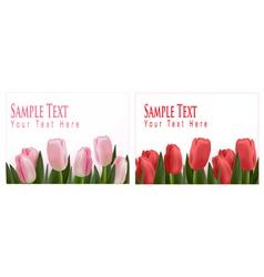 flower design border vector image