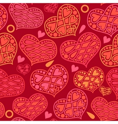 love and Valentines Day seamless pattern with vector image vector image