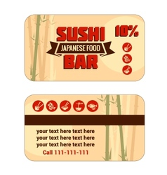 susi discount card template vector image vector image
