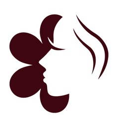 female flower face vector image vector image