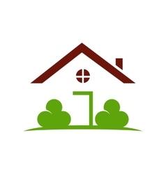 Green house logo template vector image