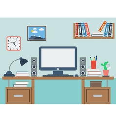 Home workplace vector image vector image