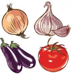 ingredients vector image