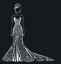 lace dress brilliant vector image