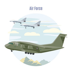military aviation concept vector image