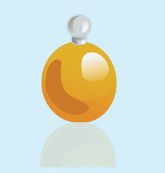 Rotund mockup realistic cosmetic bottle vector