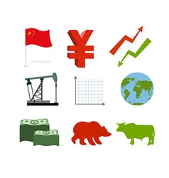 Set of business graphics Set inografika Chinese vector image
