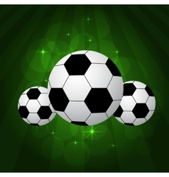 soccer balls on pitch vector image