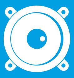 audio speaker icon white vector image