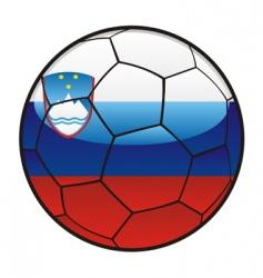 flag of Slovenia on soccer ball vector image vector image