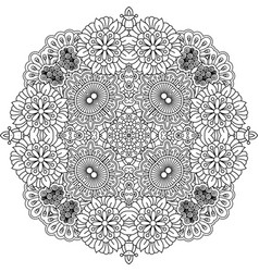 floral zentangle round decorative element vector image vector image