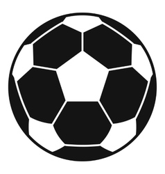 Football soccer ball icon simple style vector image