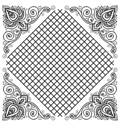 Indian floral ornament vector image vector image