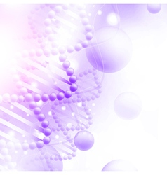 Science Background with DNA vector image vector image