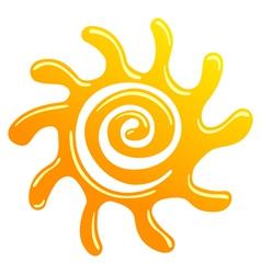 spiral sun icon vector image vector image