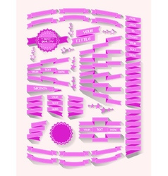 advertising ribbons vector image vector image