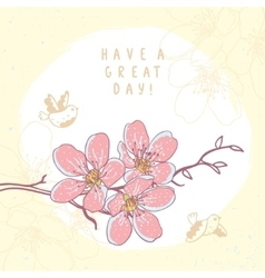 flowers branch beautiful vector image vector image