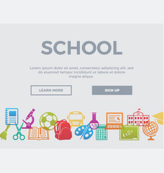 school concept header vector image