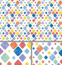 Vintage Diamond Polka Dots Distressed vector image