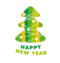 Abstract logo Christmas tree vector image