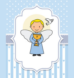 Angel with a chalice in the hands vector