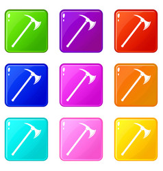 Ax icons 9 set vector