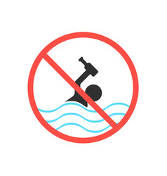 Ban on swimming in a drunken state vector