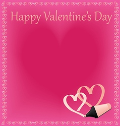 Beautiful Happy Valentines Day vector