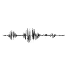 black sound waves vector image