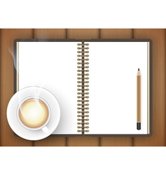 coffee table drawing. Perfect Table Blank Notebook With Coffee Cup On Table Vector  With Coffee Table Drawing