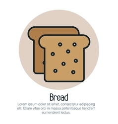 bread toast isolated icon vector image