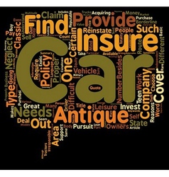 Car insurance for an antique car route to get vector