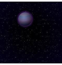Cartoon Pluto in open space vector