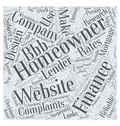 Checking Mortgage Rates Online Word Cloud Concept vector