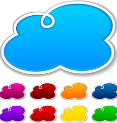 Cloudscape notification paper shapes vector image