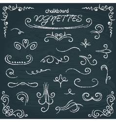 collection chalkboard vignettes vector image