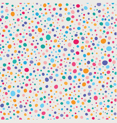 colorful wonky dots seamless pattern vector image