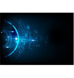 Deep blue light futuristic technology vector