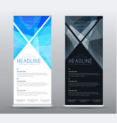 Design a standard roll up banner for presentations vector