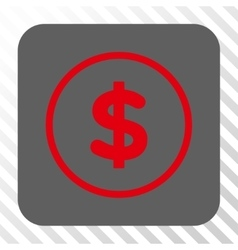 Dollar rounded square button vector