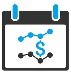 Financial Charts Calendar Day Toolbar Icon vector