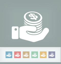 financial icon - dollars vector image