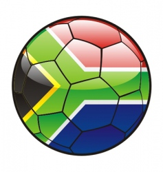 Flag of south Africa on soccer ball vector