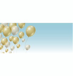 gold and silver balloons background vector image