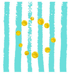 Gold glitter confetti with dots vector