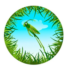 grasshopperin a clearing 2 vector image