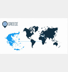 Greece location on the world map for infographics vector