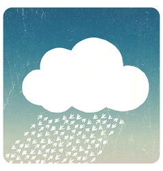 Grunge Cloud concept vector image